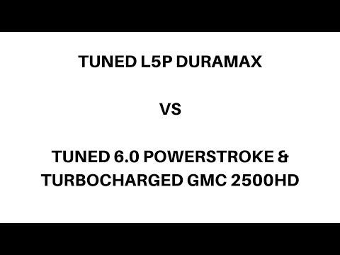 Stock L5P Drag Race vs Banks Derringer Tuned L5P Duramax