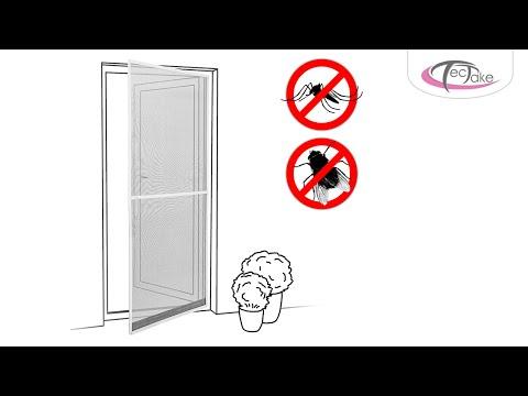 tectake - Zanzariera con telaio per porte