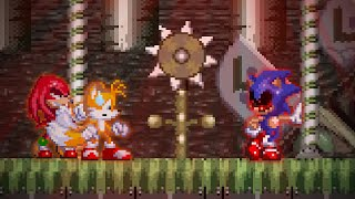 Tails And Knuckles Survived But Eggman Died: Sonic.exe The Spirits Of Hell - DUO SURVIVAL!