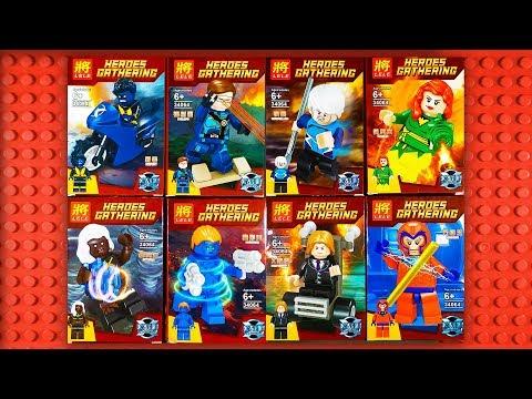 lego-marvel-xmen-minifigures-with-phoenix-cyclops-storm-magneto-professor-x-knockoff-lele-34064