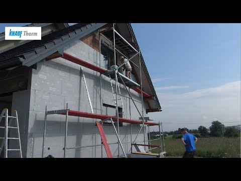 Płyty ETIXX - wykonanie termoizolacji budynku - Knauf Therm - zdjęcie