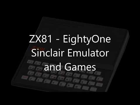 ZX81 EightyOne Sinclair Emulator Games