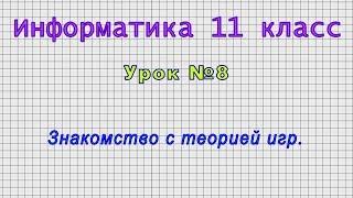 Информатика 11 класс Урок 8