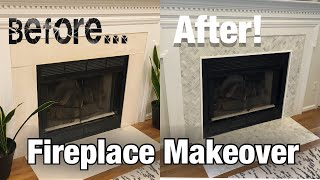 FIREPLACE MAKEOVER | DIY HOME PROJECTS | DIY FIREPLACE