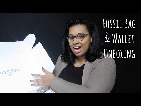 Fossil Emerson Satchel Unboxing- Plus Fossil Emma RDIF Wallet!!