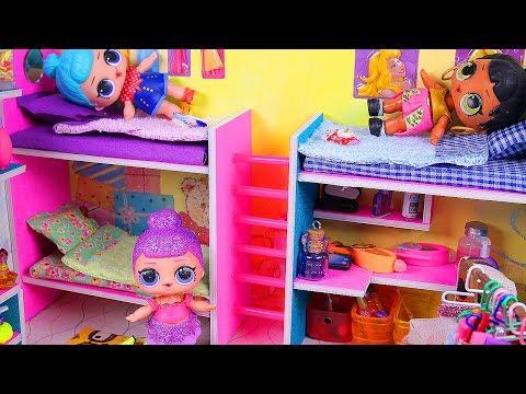 DIY Miniature Bunk Bed Bedroom ~ Doll House