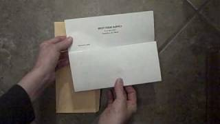 How to fold a resume and title a resume letter