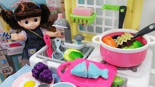 콩순이와 물이 나오는 디디 주방놀이 요리놀이 아기인형 콩콩이 소꿉놀이 뽀로로 장난감