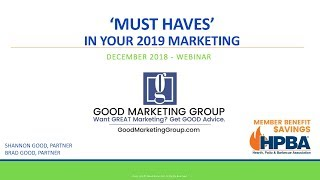 MUST HAVES in Your 2019 Marketing Plan - A Marketing Checklist
