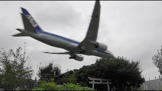 ✈✈近くを神社迄撮影しました。大迫力!!成田空港で一番近くで見れる東峰神社で撮影しました!!成田空港東峰神社