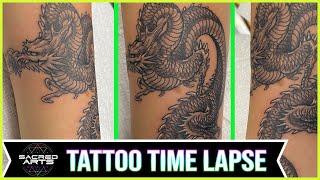 Japanese Dragon Tattoo Time Lapse | Sacred Arts Tattoo