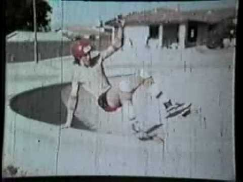 Winchester Skate Park 1980 - Jon Insco layback rollout in the Little Pool