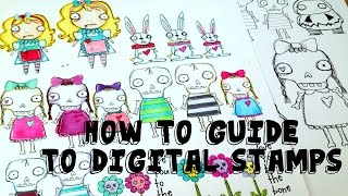 My Guide To Digital Stamps And How I Use Them | Serena Bee