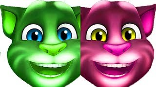 Talking Tom Head Finger Family Song Learn Colors - Colours for Kids