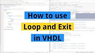 How to use Loop and Exit in VHDL