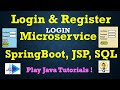 Microservices : Login And Register using SpringBoot, JSP & SQL [Part-1 : Login Microservice]
