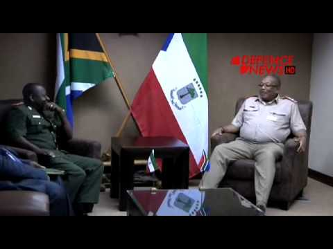 Chief of Equatorial Guinea Armed Forces visits SA