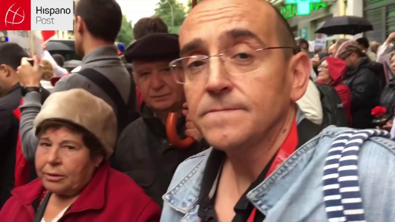 Protestas de la militancia del PSOE por el Comité Federal