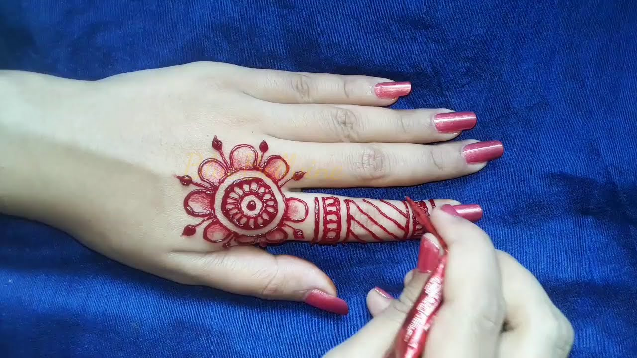 bridal full hand floral mehndi design by blue bellvine
