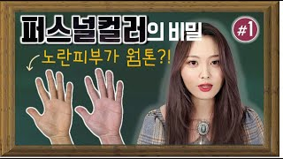 [Eng] 퍼스널컬러 자가진단ㅣ웜톤이 노란피부라고? Secret Of Personal Color ㅣ유이레 컬러 (UIREH)