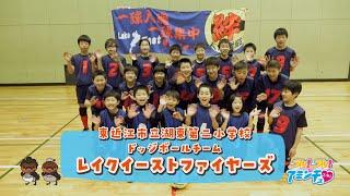 男の子も女の子も一緒にドッジボールをしよう!「レイクイーストファイヤーズ」湖東第二小学校体育館