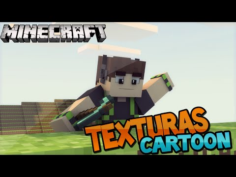 Minecraft: TEXTURAS EM CARTOON! (1.6/1.7/1.8)