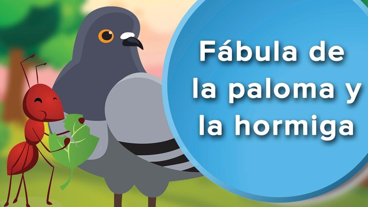 Fábula de la Paloma y la Hormiga   Cuentos con moraleja para niños