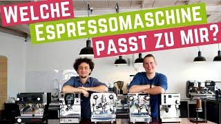 Welche Espressomaschine passt zu mir?