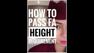 How to pass height requirement? | Cabin crew tips! | Part 3