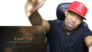 Eminem - Welcome 2 Hell Bad Meets Evil & 10 FASTEST Eminem Verses Of All Time | Reaction