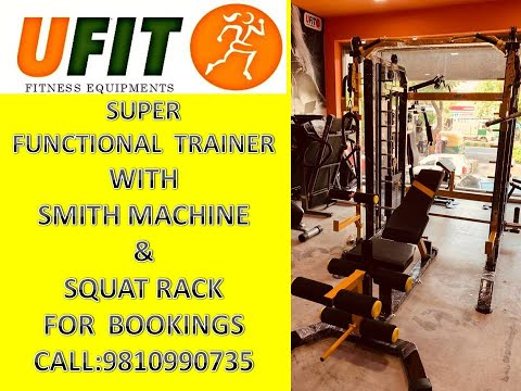 Super Functional Trainer With Smith And Sqaut Rack By U Fit India
