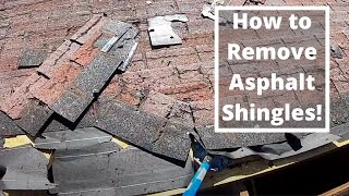 How to Remove an Old Asphalt Shingle Roof and Replace Rotten Roof Decking