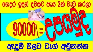 earn 90000= to in housh and tag cloth sub contract