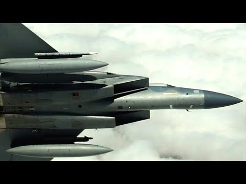 STUNNING AERIAL FOOTAGE of refueling ops and F-16, F-15, B-52 SHOW OF FORCE! ('African Lion' 2018.)