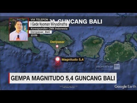 Gempa Kembali Terjadi! Kali ini Guncang Bali Dengan Magnitudo 5,4