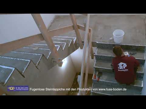 Fugenlose Steinteppiche auf Treppen