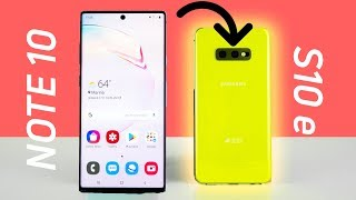 The Samsung Galaxy Note10 makes me love the Samsung Galaxy S10e even More