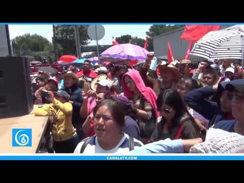 Movimiento Antorchista, realizó manifestación pacifica en la Secretaría de Hacienda en la CDMX
