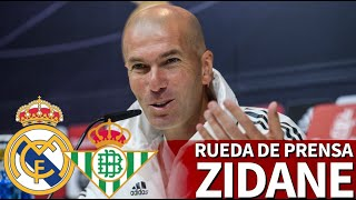 REAL MADRID VS. BETIS | Rueda De Prensa De ZIDANE | Diario AS
