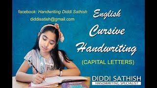 Gambar cover English Cursive Handwriting Capital Letters by DIDDI SATHISH