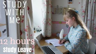 Study with Me on Study Leave (12 hours in a Day)