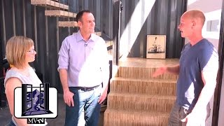 MVTV - Shipping Container Home: Custom Floating Stairway