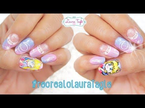Haz stickers de uñas con la impresora de tu casa. SAILOR MOON Nail Art  /  #recrealoLauraTagle