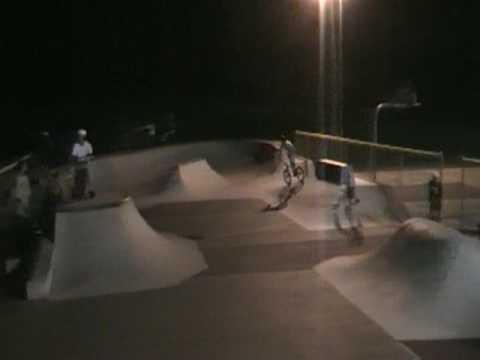 bmxing at killingly skatepark
