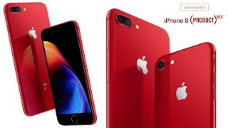 Product RED Apple iPhone 8 & Apple iPhone 8 Plus Released!