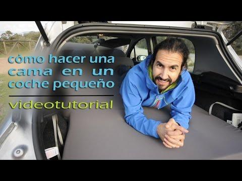 Cómo hacer una cama en un coche. Peugeot camper.