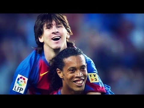 Lionel Messi's stirring homage to Ronaldinho | Oh My Goal