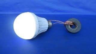 Free Energy Generator With Light Bulbs Very Easy - Free Energy 100%