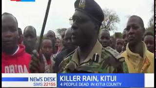 4 people dead as flood sweep vehicle in Kitui county