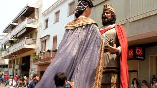 preview picture of video 'Gegants Nous de Ribes - Sant Pere 2012'